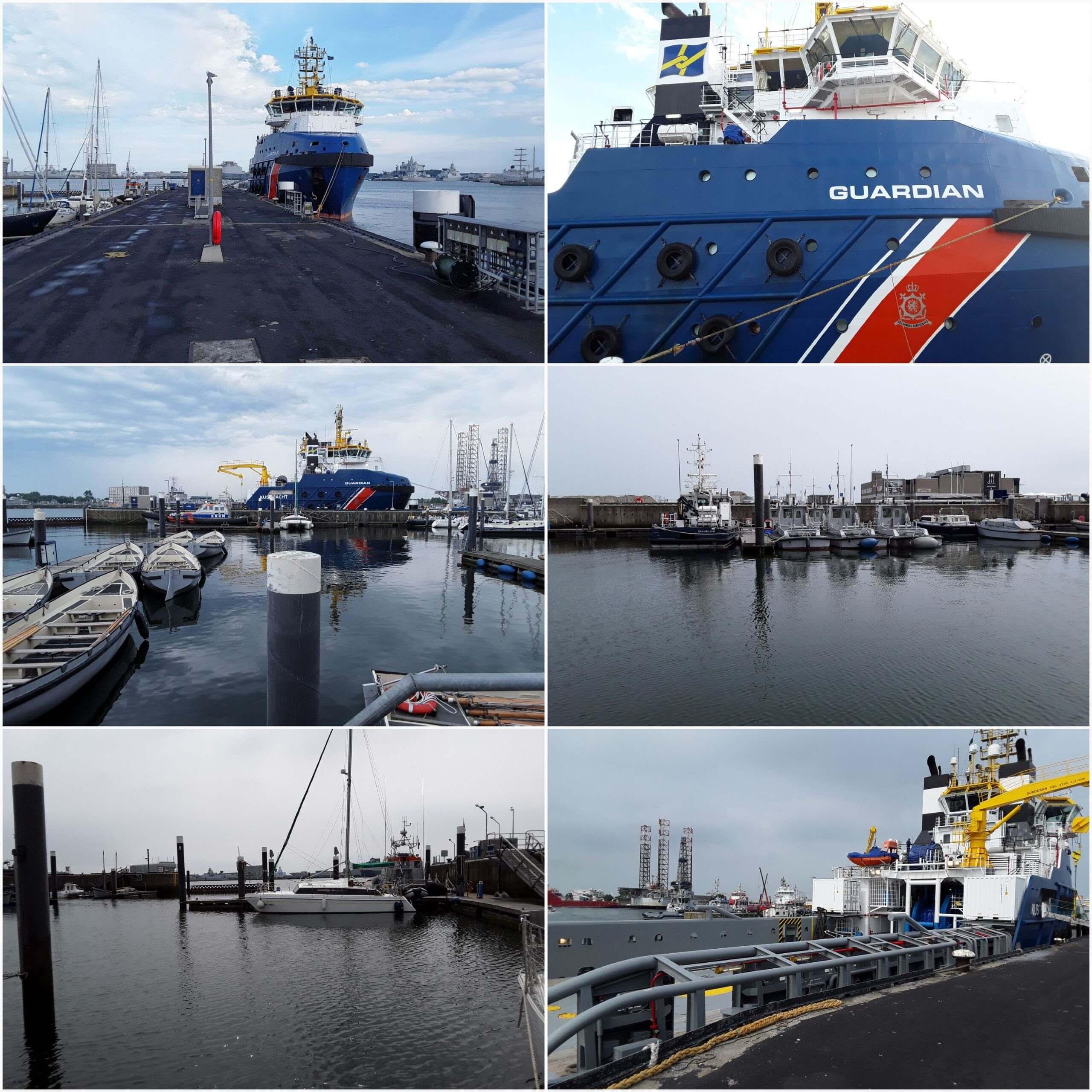 Collage van den Helder-haven